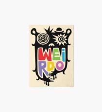 Big Weirdo - beige Art Board