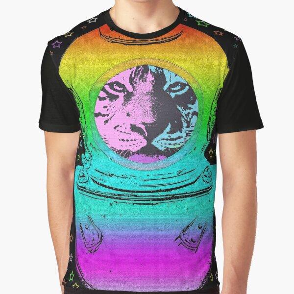 TIGER ASTRONAUT STARS Grafik T-Shirt