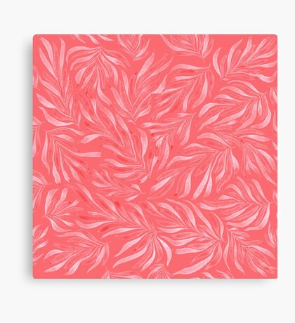 Pink Foliage III Canvas Print