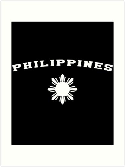 b4d8c06aa3 'Philippines Pilipinas Flag Sun' Art Print by banwa