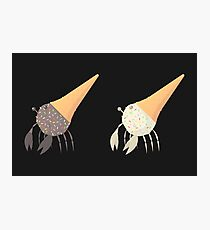 Crab Cream Cone with Sprinkles (shade) Photographic Print