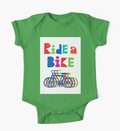 Ride a bike - sketchy - white Kids Clothes