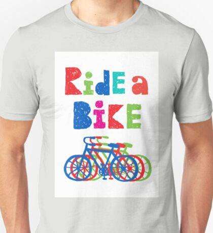 Ride a bike - sketchy - white T-Shirt