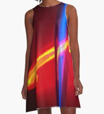 Neon - Red and Blue 3 A-Line Dress