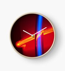 Neon - Red and Blue 3 Clock