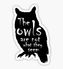 Twin Peaks Inspired Creepy Owl Sticker