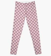 Cute Pink Cartoon Piglet Leggings
