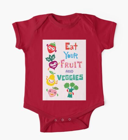 Eat Your Fruit and Veggies Kids Clothes