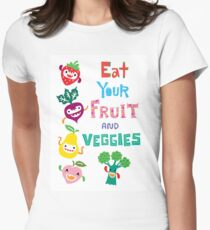 Eat Your Fruit and Veggies Women's Fitted T-Shirt