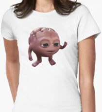 Brain Womens Fitted T-Shirt