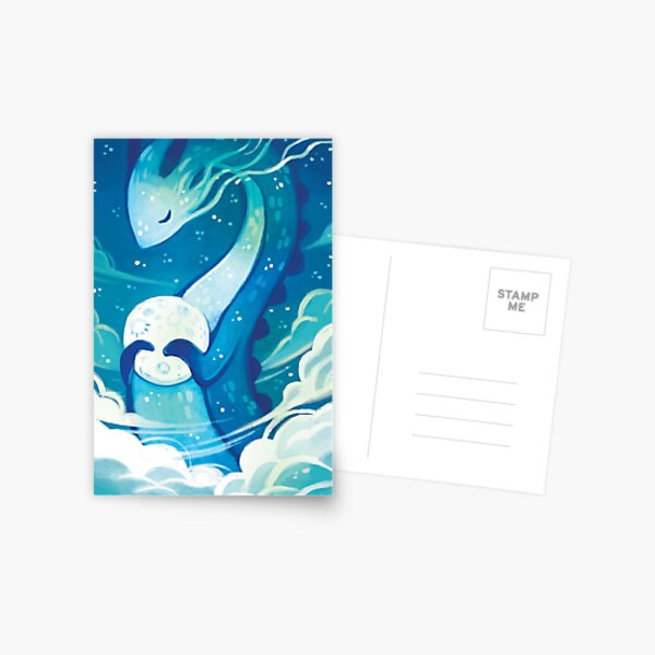 Moon Dragon Postcard