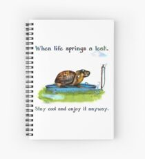 Turtle in a leaking pool Spiral Notebook