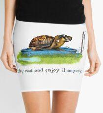 Turtle in a leaking pool Mini Skirt