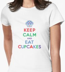 Keep Calm and Eat Cupcakes - primary 2 Women's Fitted T-Shirt
