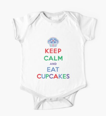 Keep Calm and Eat Cupcakes- primary Kids Clothes