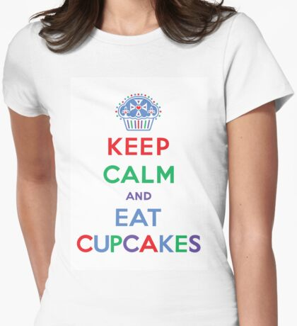 Keep Calm and Eat Cupcakes- primary T-Shirt