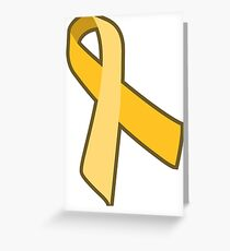 Yellow - Armed Forces, Childhood Cancer, Suicide Prevention Greeting Card
