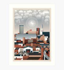 Birmingham Stadtbild II Kunstdruck