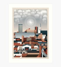 Birmingham Cityscape II Art Print