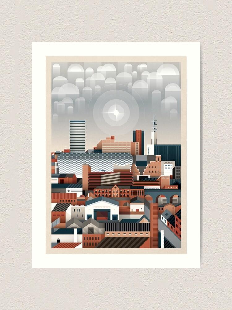 Alternate view of Birmingham Cityscape II Art Print