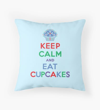Keep Calm and Eat Cupcakes - primary 2 Throw Pillow