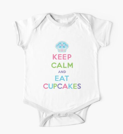 Keep Calm and Eat Cupcakes - pastel Kids Clothes