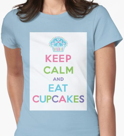 Keep Calm and Eat Cupcakes - pastel T-Shirt
