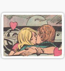 Couple Kissing Sticker
