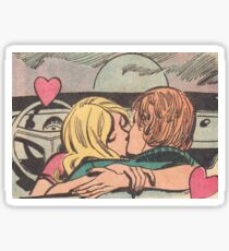 Couple Kissing Sticker
