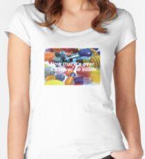 CHILDISH GAMBINO SOBER Women's Fitted Scoop T-Shirt