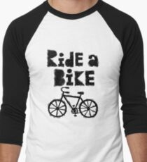Ride a Bike - woody Men's Baseball ¾ T-Shirt