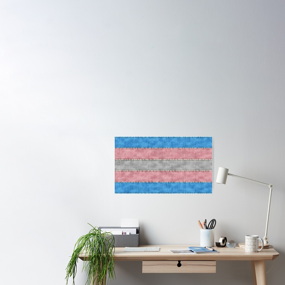 Transgender Denim Flag Poster