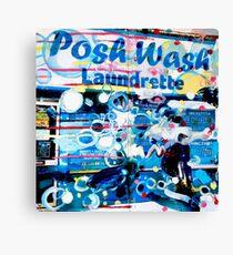 Posh Wash Laundrette Canvas Print