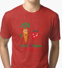 Fruit and Veggie Love Tri-blend T-Shirt
