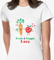 Fruit and Veggie Love Womens Fitted T-Shirt