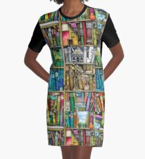 Fantastic library Graphic T-Shirt Dress