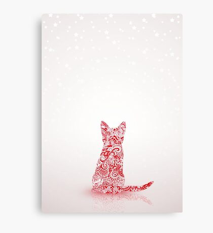 Kitten Christmas Canvas Print