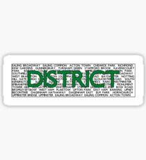 District Line Sticker
