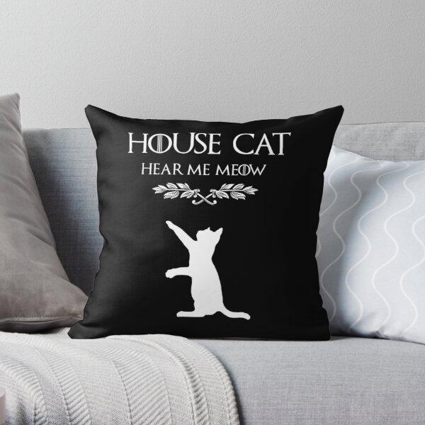 Hear me meow Throw Pillow