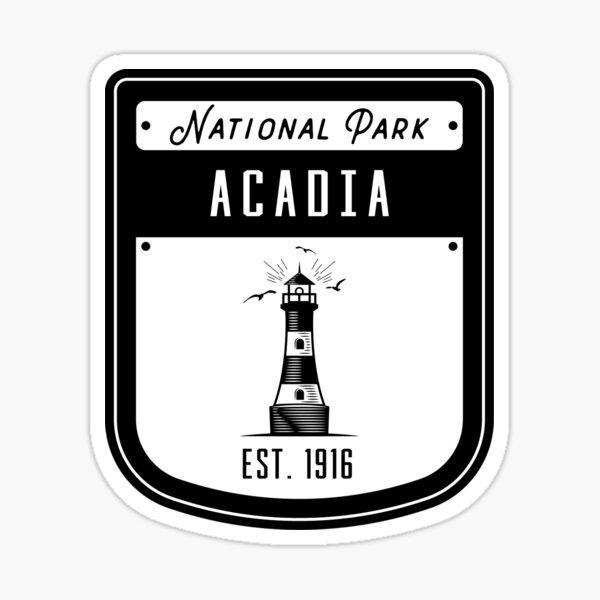 Acadia National Park Lighthouse Badge Sticker