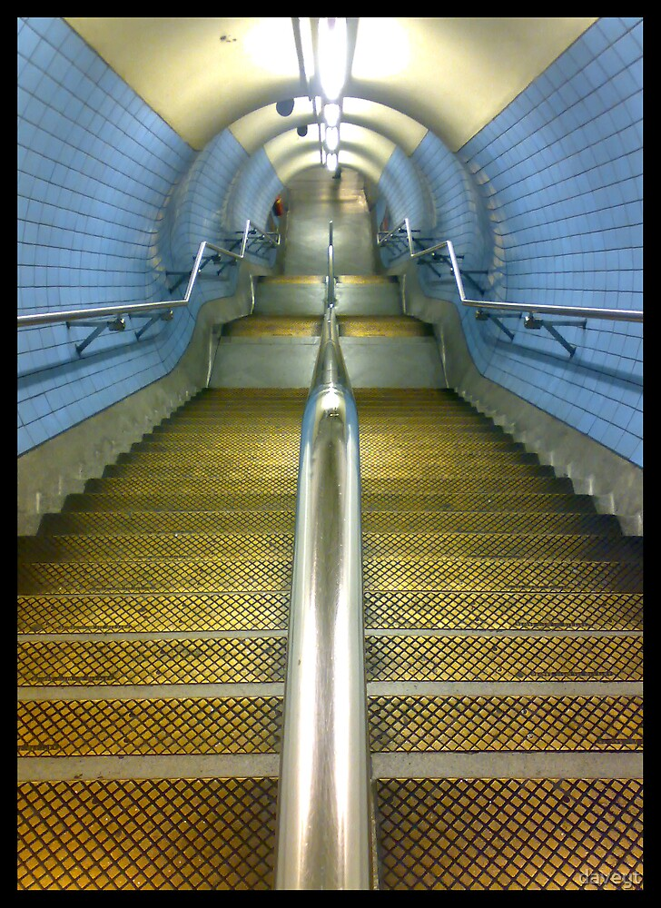 London underground steps by daveyt