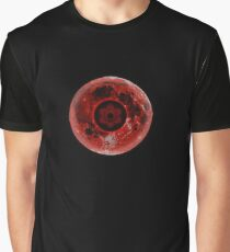 Realistic Infinite Tsukuyomi Moon and Sharingan Graphic T-Shirt