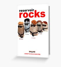 Reservoir Rocks Greeting Card