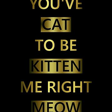 You've Cat To Be Kitten Me Right Meow by Starrypoo