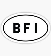 Euro Sticker - BFI - King County International Airport (Boeing Field) Sticker
