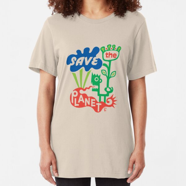 Save the Planet  Slim Fit T-Shirt