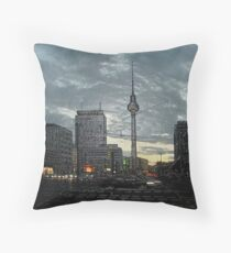 look to the berlin television tower Throw Pillow