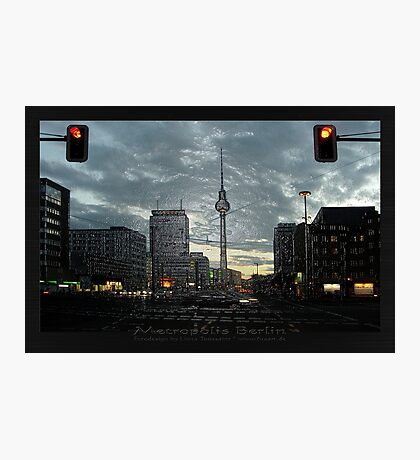 look to the berlin television tower Photographic Print