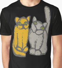 Cats couple - pets, cats, kittens, rescue,  Graphic T-Shirt