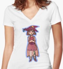forest witch Women's Fitted V-Neck T-Shirt
